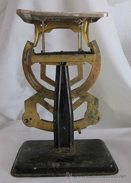 Antigüedades: ANTIGUA BALANZA PESACARTAS DE CORREOS myc - Foto 3 - 43818461