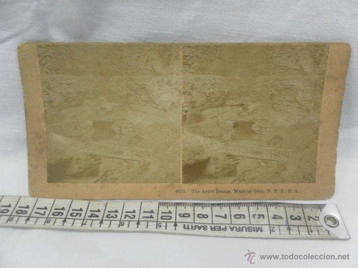 Antigüedades: Visor estereoscópico de caoba. Siglo XIX / XX. Se acompaña con 9 vistas - Foto 10 - 43844505