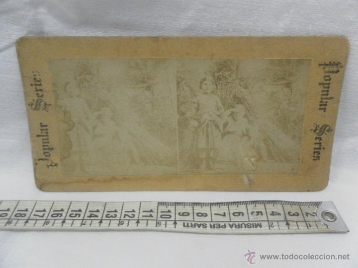 Antigüedades: Visor estereoscópico de caoba. Siglo XIX / XX. Se acompaña con 9 vistas - Foto 14 - 43844505