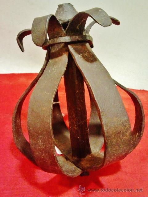 Antigüedades: Magnífico remate de verja en hierro forjado del s. XVII en forma de flor. - Foto 3 - 43873163