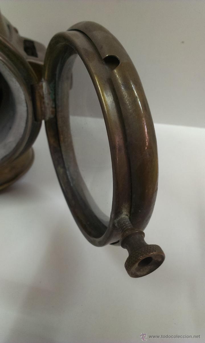 Antigüedades: FAROL O LINTERNA DE BARCO MUY ANTIGUO (POSIBLEMENTE DE PETROLEO) - Foto 5 - 43924876