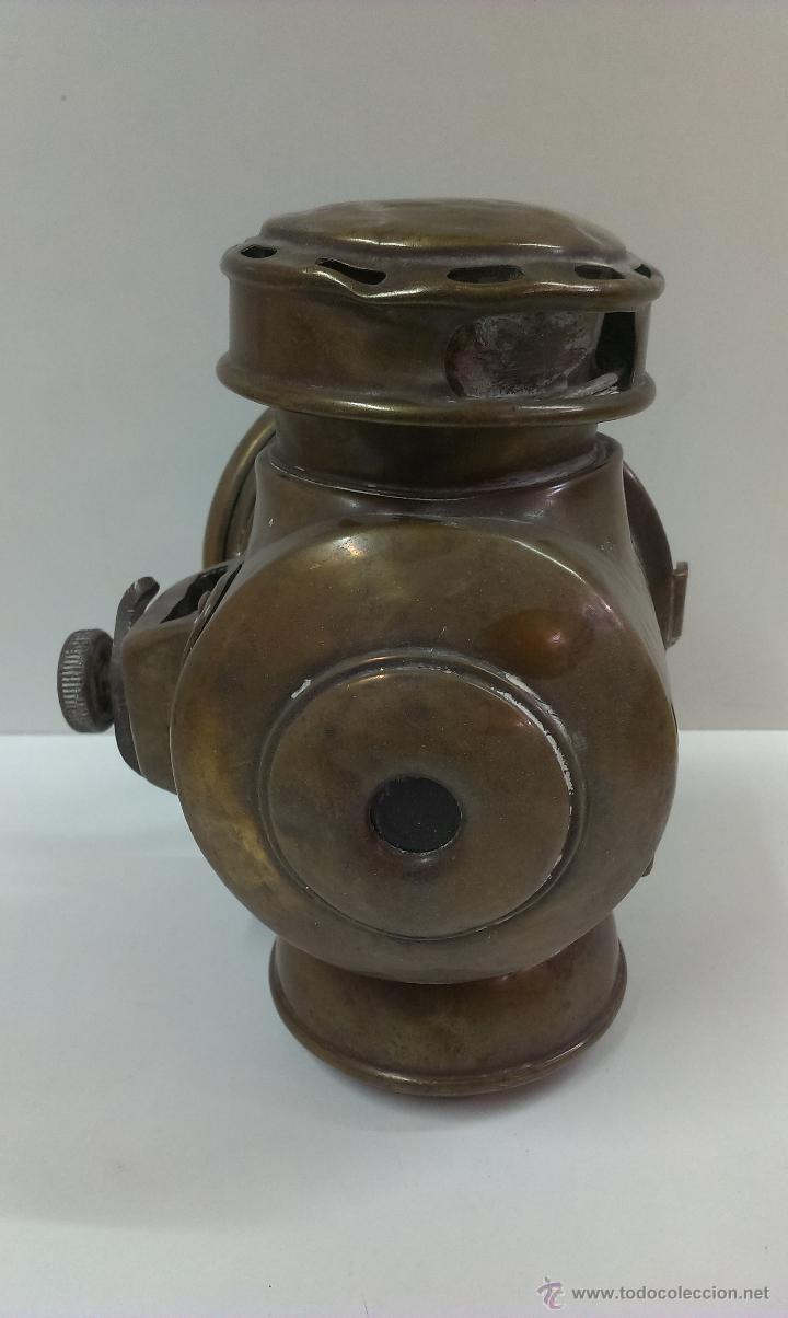Antigüedades: FAROL O LINTERNA DE BARCO MUY ANTIGUO (POSIBLEMENTE DE PETROLEO) - Foto 7 - 43924876