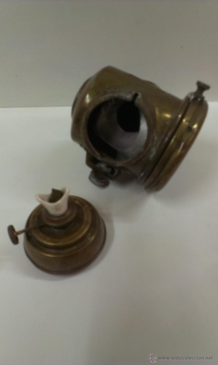 Antigüedades: FAROL O LINTERNA DE BARCO MUY ANTIGUO (POSIBLEMENTE DE PETROLEO) - Foto 8 - 43924876