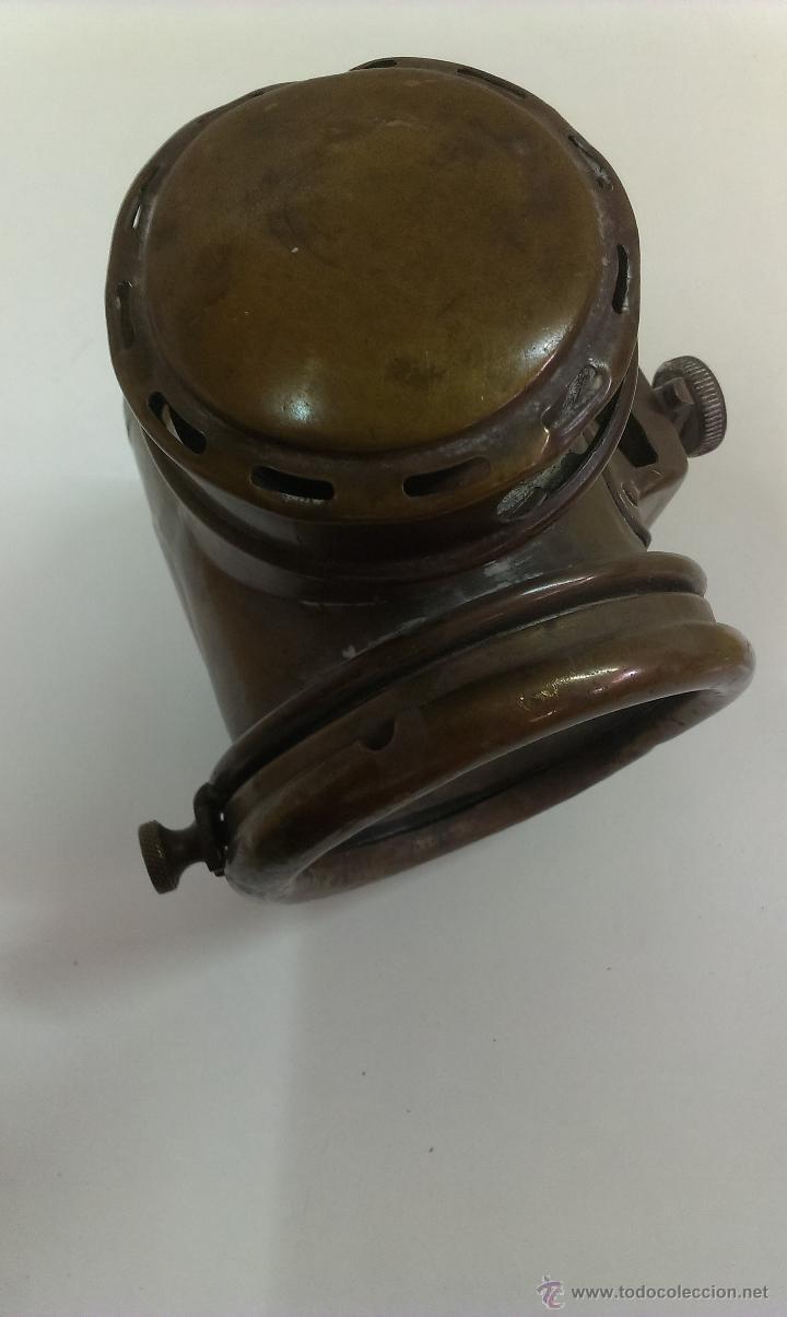 Antigüedades: FAROL O LINTERNA DE BARCO MUY ANTIGUO (POSIBLEMENTE DE PETROLEO) - Foto 11 - 43924876