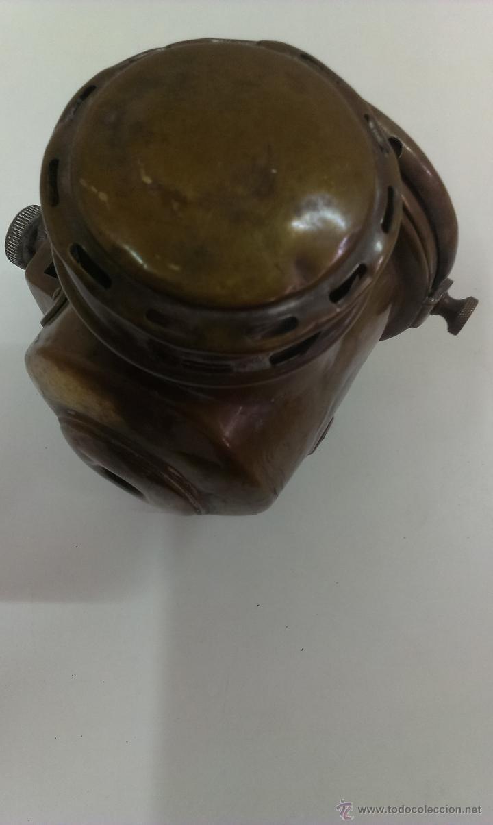Antigüedades: FAROL O LINTERNA DE BARCO MUY ANTIGUO (POSIBLEMENTE DE PETROLEO) - Foto 12 - 43924876