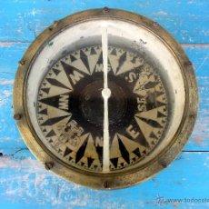 Antigüedades: MUY ANTIGUA GRAN BRUJULA DE BARCO - REALIZADA EN BRONCE - UNA BELLEZA - 100 % ORIGINAL - FLOR DE LIS. Lote 43925826