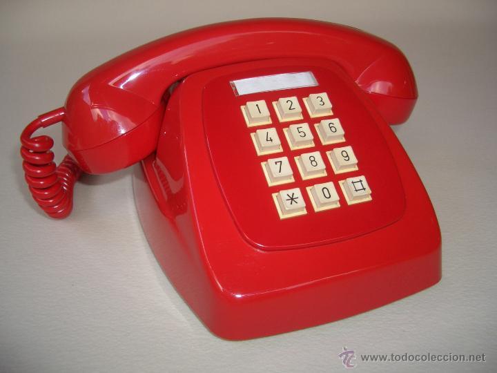 Telefono Antiguo Rojo Años 70 Español, 100% Ori