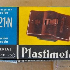 Antigüedades: INTERRUPTOR MONOPOLAR PLASTIMETAL. Lote 43954487