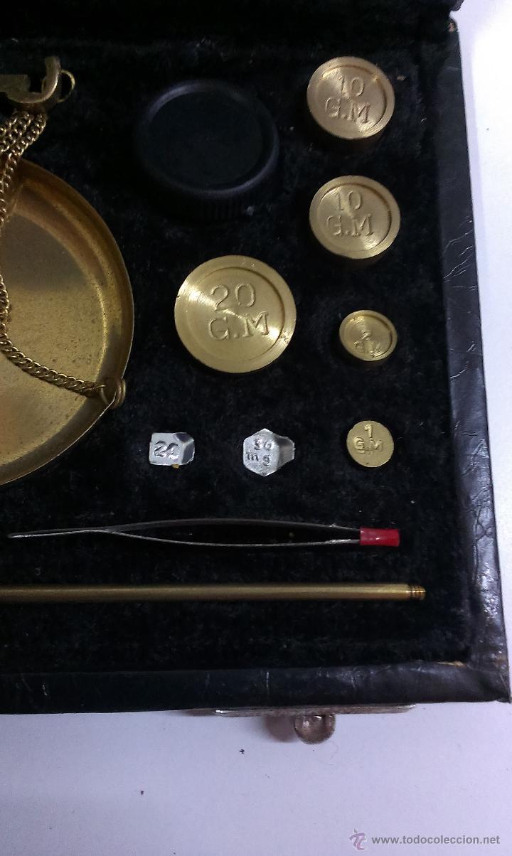 Antigüedades: BONITA BASCULA DE PRECISION CON SU ESTUCHE - Foto 5 - 43960051