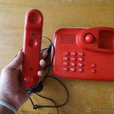 Teléfonos: PRECIOSO TELEFONO ROJO FUNCIONANDO. Lote 43972694