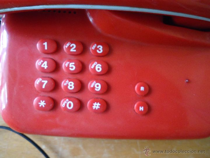 Teléfonos: precioso telefono rojo funcionando - Foto 6 - 43972694
