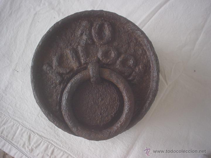 PESA 10 KG (Antigüedades - Técnicas - Medidas de Peso - Ponderales Antiguos)