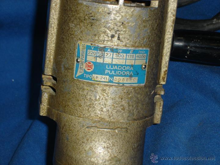 Antigüedades: - ANTIGUA LIJADORA PULIDORA MARCA TENAX - 220 V 2,7 A - FUNCIONA - Foto 2 - 43981898