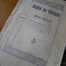 Antigüedades: LIBRO-FOLLETO N. ALCAYDE REGLA DE CALCULO DE BOLSILLO 3ª EDICIÓN 1.916 - SLIDE RULE RECHENSCHIEBER. Lote 44002752