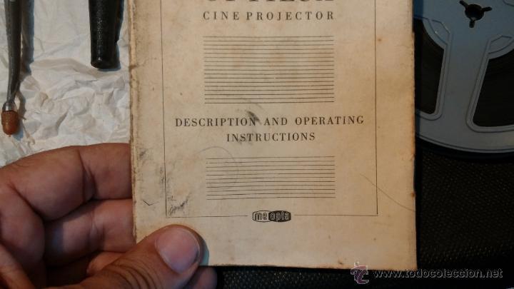 Antigüedades: Proyector de cine, muy antiguo, de origen checoslovaco, con maletín original, aceitera original,.... - Foto 68 - 44027361