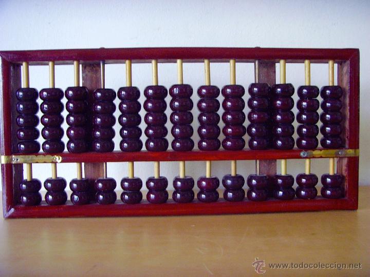 ÁBACO CHINO - CALCULADORA MANUAL (Antigüedades - Técnicas - Aparatos de Cálculo - Ábacos Antiguos)