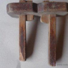 Antigüedades: ANTIGUO GRAMIL DE CARPINTERO DOBLE. Lote 44089620