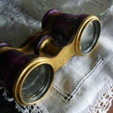 Antigüedades: BELLISIMOS BINOCULARES JUMELLE DUCHESSA OPERA - NACAR LILA PEQUEÑO DETALLE SIGLO XIX. Lote 44104920