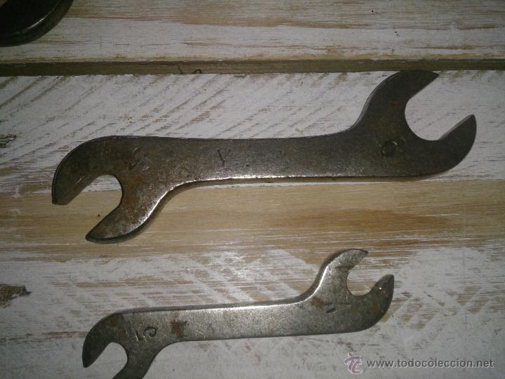 Antigüedades: Herramientas antiguas juego de llaves fijas . - Foto 7 - 44140678