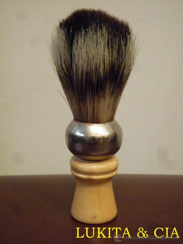 BROCHA DE AFEITAR. (Antigüedades - Técnicas - Barbería - Varios Barbería Antiguas)
