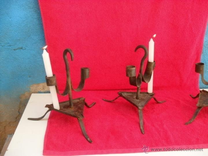 Antigüedades: 3 antiguos hacheros,hierro,forja - Foto 2 - 44190571