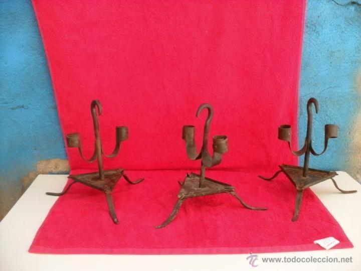 Antigüedades: 3 antiguos hacheros,hierro,forja - Foto 5 - 44190571
