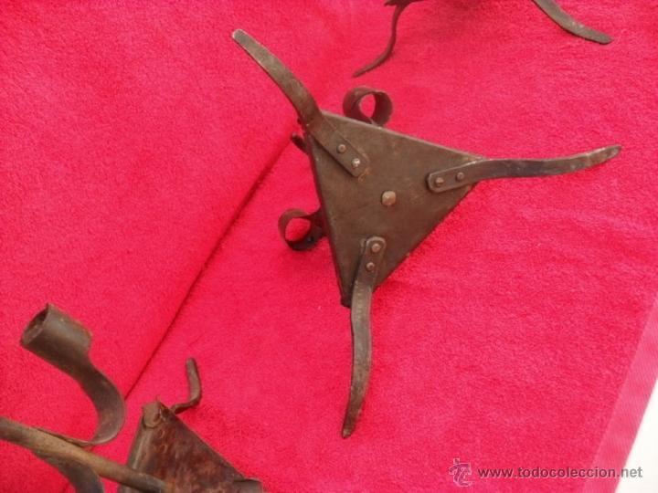 Antigüedades: 3 antiguos hacheros,hierro,forja - Foto 6 - 44190571