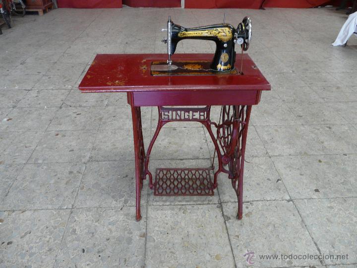 Antigüedades: MAQUINA DE COSER SINGER - Foto 4 - 44192514
