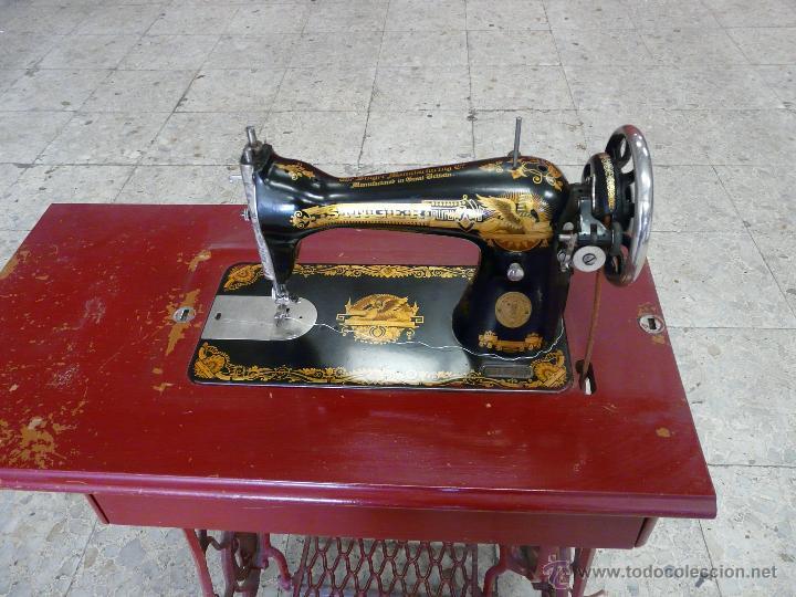 Antigüedades: MAQUINA DE COSER SINGER - Foto 5 - 44192514