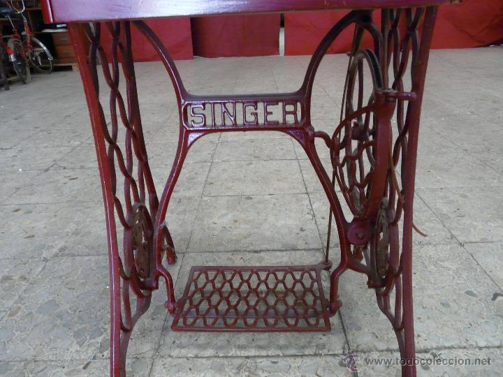Antigüedades: MAQUINA DE COSER SINGER - Foto 7 - 44192514