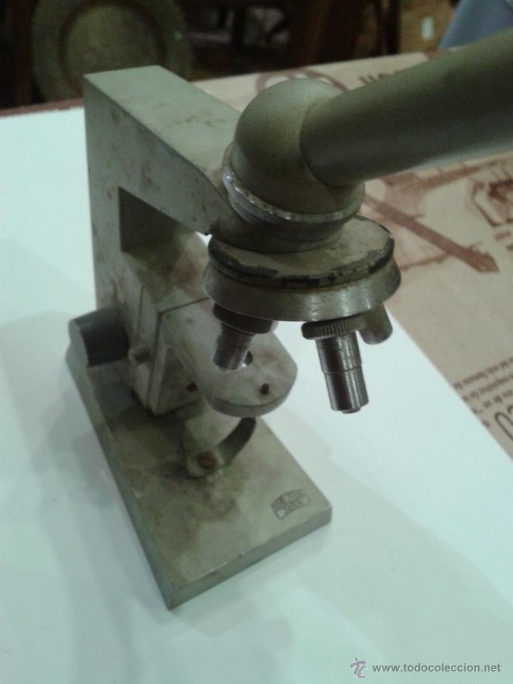 Antigüedades: ANTIGUA Y CURIOSA MAQUETA DE MICROSCOPIO MARCA CARL ZEIS JENA - Foto 5 - 44209037