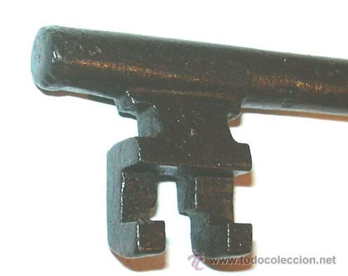 Antigüedades: llave antigua de hierro - Foto 2 - 44214471