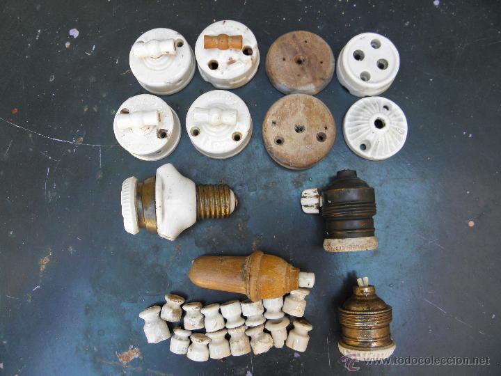 LOTE MATERIAL ELECTRICO (Antigüedades - Técnicas - Varios)