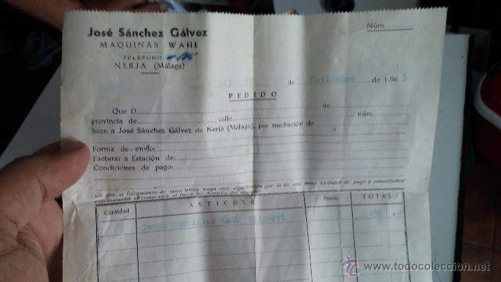 Antigüedades: Antigua maquina electrica para cortar el pelo, con factura, caja y manuales originales de 1965 - Foto 6 - 44245458