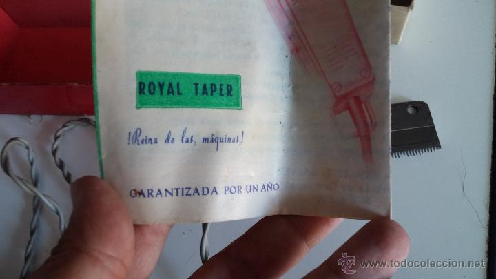 Antigüedades: Antigua maquina electrica para cortar el pelo, con factura, caja y manuales originales de 1965 - Foto 8 - 44245458