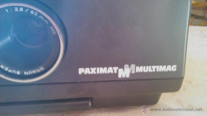 Antigüedades: Proyector de diapositivas Braun Nurnberg Paximat Multimag. 915 AFC. Made in germany - Foto 10 - 116113275