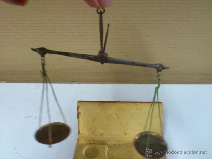 BALANZA EN SU CAJA ORIGINAL SIN PONDERALES (Antigüedades - Técnicas - Medidas de Peso - Balanzas Antiguas)