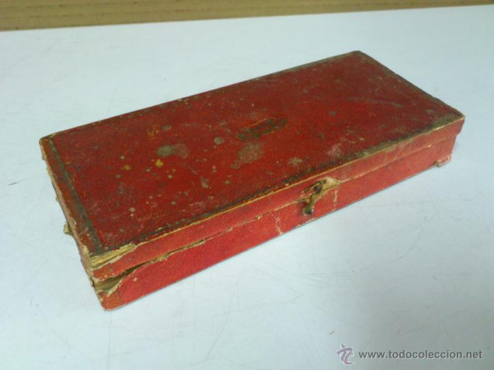Antigüedades: BALANZA EN SU CAJA ORIGINAL SIN PONDERALES - Foto 2 - 44272843