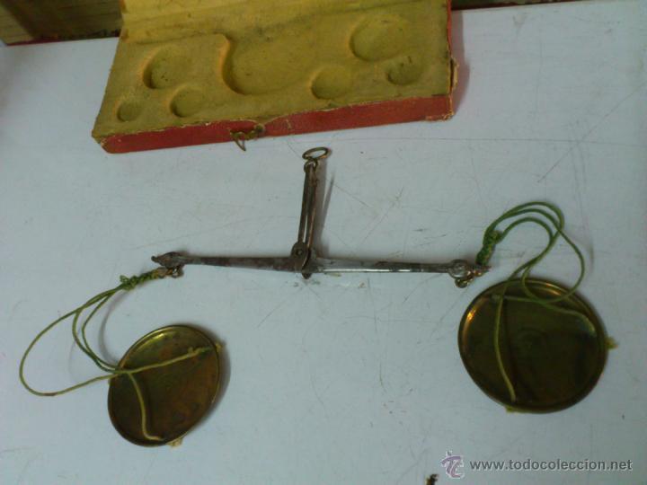 Antigüedades: BALANZA EN SU CAJA ORIGINAL SIN PONDERALES - Foto 6 - 44272843