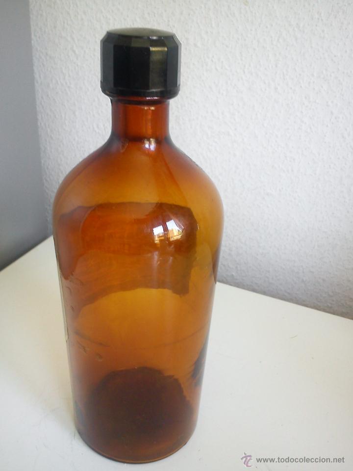 Antigüedades: ANTIGUA BOTELLA DE FARMACIA DOS ANOS 40,50 DE COLECION selada.M K Z 500,ROBAVIS - Foto 3 - 44292284