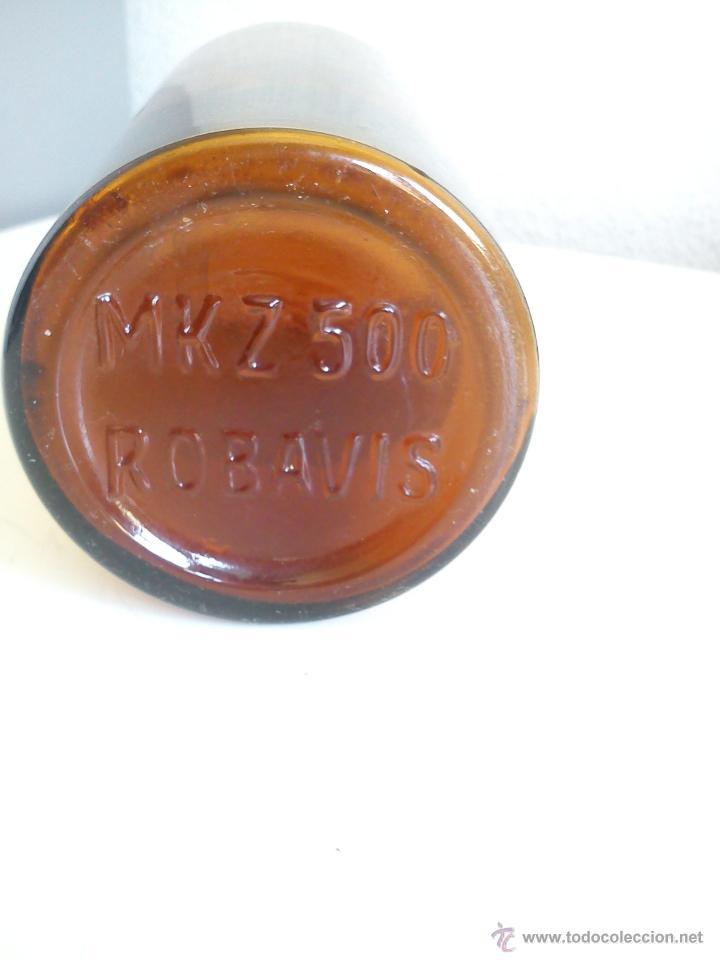 Antigüedades: ANTIGUA BOTELLA DE FARMACIA DOS ANOS 40,50 DE COLECION selada.M K Z 500,ROBAVIS - Foto 4 - 44292284
