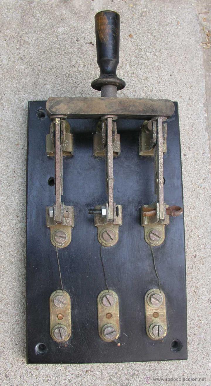 INTERRUPTOR CUCHILLAS (Antigüedades - Técnicas - Herramientas Profesionales - Electricidad)