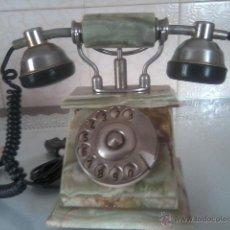 Teléfonos: TELEFONO ANTIGUO CON PIEDRA DE ONIX. Lote 126147358