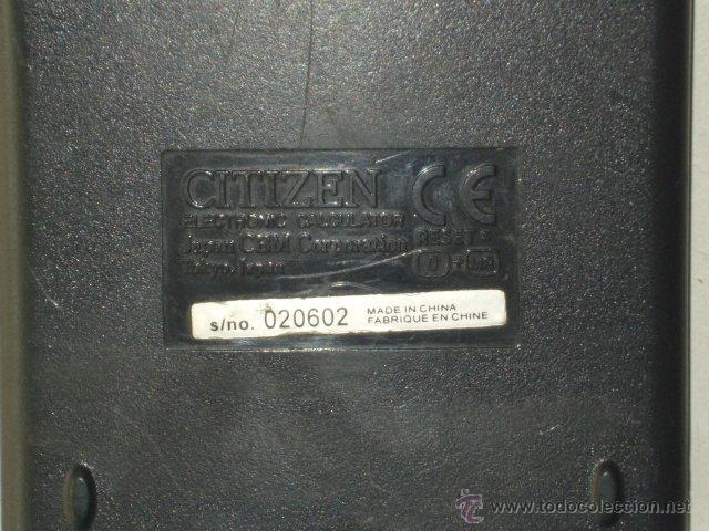Antigüedades: CALCULADORA CIENTIFICA,CITIZEN SRP-265.FUNCIONANDO. - Foto 5 - 44328888