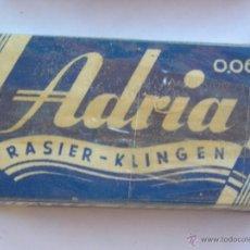 Antigüedades: **ANTIGUA CAJITA DE HOJAS DE AFEITAR,----ADRIA RASIER KLIGEN---(10 HOJAS)**. Lote 44338220