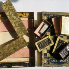 Antigüedades: CAJA DE AGUJAS CON 5 CAJITAS Y TIENE EL JUEGO DE LA OCA Y SUS FICHAS. Lote 44355168