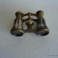 Antigüedades: PRISMATICOS BINOCULARES. NACAR (TEATRO U OPERA) 'LEMAIRE FAB.' PARIS. Lote 44399356