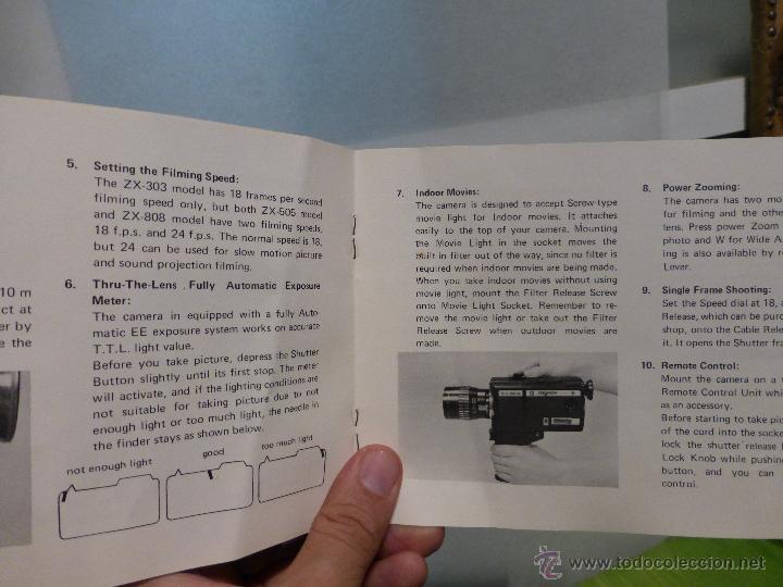 Antigüedades: ANTIGUO TOMAVISTAS SUPER 8 MARCA RAYNOX ZX- 505 EN SU ESTUCHE - JAPONES AÑOS 70 - Foto 3 - 44434016