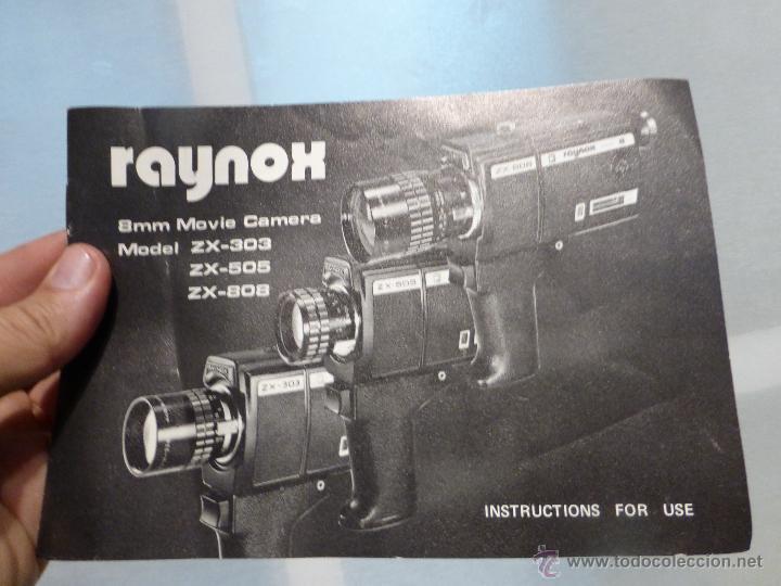 Antigüedades: ANTIGUO TOMAVISTAS SUPER 8 MARCA RAYNOX ZX- 505 EN SU ESTUCHE - JAPONES AÑOS 70 - Foto 4 - 44434016