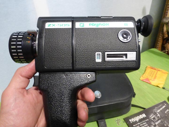 Antigüedades: ANTIGUO TOMAVISTAS SUPER 8 MARCA RAYNOX ZX- 505 EN SU ESTUCHE - JAPONES AÑOS 70 - Foto 10 - 44434016